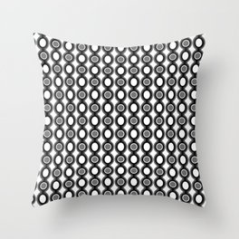Retro-Delight - Oscillating Ovals (Accent) - Black Throw Pillow