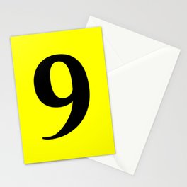 9 (BLACK & YELLOW NUMBERS) Stationery Cards