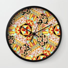 Gypsy Patchwork (printed) Wall Clock