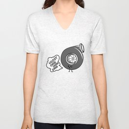 What does the turbo say? Unisex V-Neck