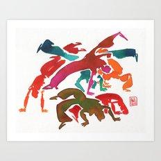 Capoeira 243 Art Print