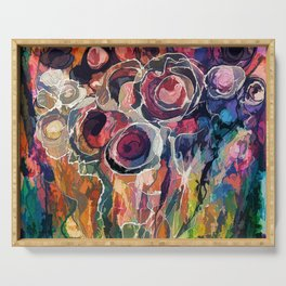 Floral Abstract Serving Tray