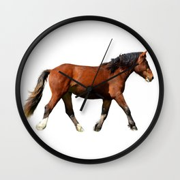 Fine Art Horse Painting  Wall Clock
