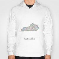 kentucky Hoodies featuring Kentucky map by David Zydd