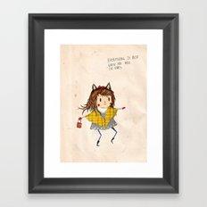 Cat ears Framed Art Print