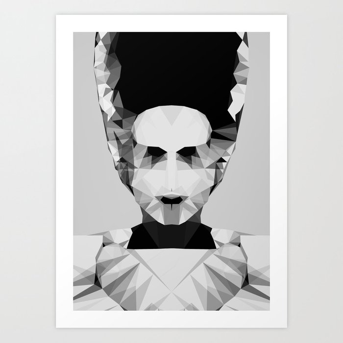 Polygon Heroes - The Bride Art Print
