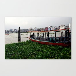 Moored Boat Canvas Print