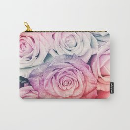Some people grumble II  Floral rose flowers pink and multicolor flower garden Carry-All Pouch