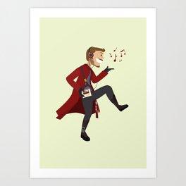 Dancing Quill Art Print