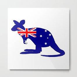 Australian Flag - Kangaroo Metal Print