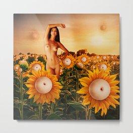 Quiverish Sunflowers Metal Print