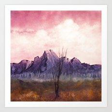 Over The Mountains II Art Print
