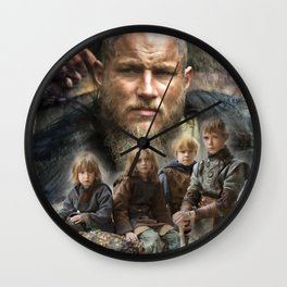 Ragnar and his sons Wall Clock