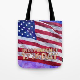 Fourth of July American Flag Independence Day 1776 Tote Bag