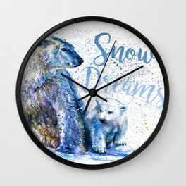Snow Dreams Wall Clock