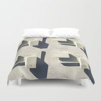 concrete Duvet Covers featuring concrete  by Larry Fulton