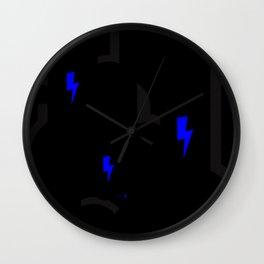 BLCK & YLLW MNSTR HROS Wall Clock