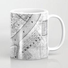 Vintage Map of Cincinnati Ohio (1838) BW Coffee Mug