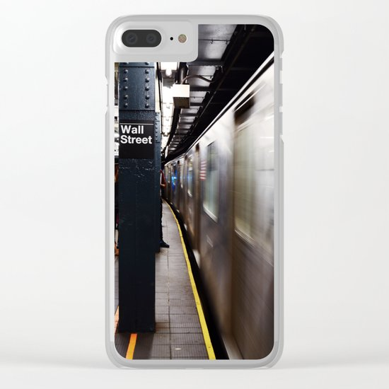 Wallstreet Subway Clear iPhone Case