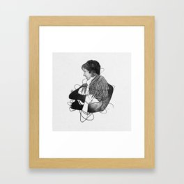Surrounded with your deepness. Framed Art Print