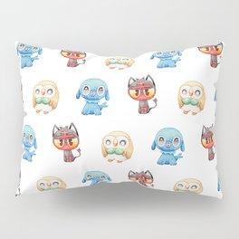 Rowlet, Litten and Popplio - Starters - Pocket Monsters Pillow Sham