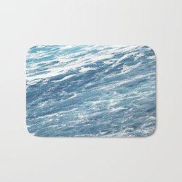 Ocean Water Waves Foam Texture Bath Mat