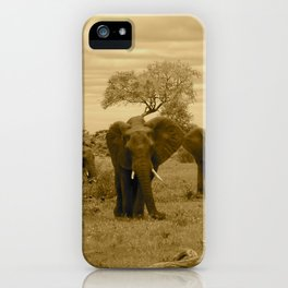 Elephant sepia iPhone Case