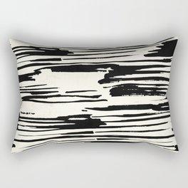 Rough Brush on Ivory Rectangular Pillow