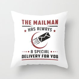 Postman Mailman Day Post Mail Job Delivery Gift Throw Pillow