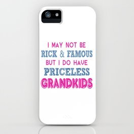 Priceless Grandkids iPhone Case