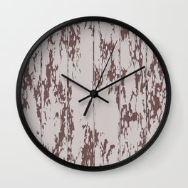 Weathered Wood Paneling 02 Wall Clock