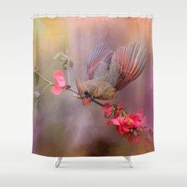 Spring Cardinal 2 Shower Curtain