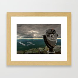 Lake Placid Vista Framed Art Print