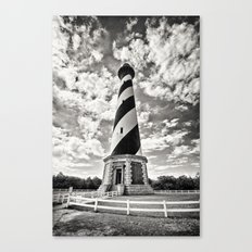 Sepia - Cape Hatteras Lighthouse, Outer Banks, NC Canvas Print