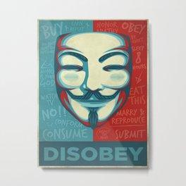 Disobey Metal Print