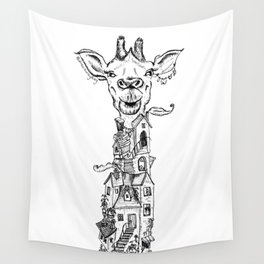 A Small Village Wall Tapestry