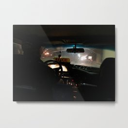 Night Taxi, Casablanca, Morocco Metal Print