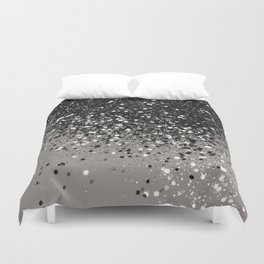 Silver Gray Glitter #1 #shiny #decor #art #society6 Duvet Cover