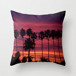 Sunset over Hollywood Throw Pillow