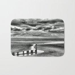 Cleethorpes Beach Monochrome Bath Mat