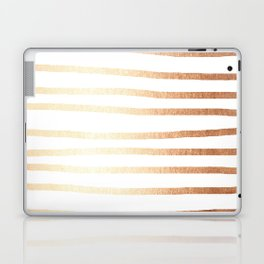 Simply Drawn Stripes Deep Bronze Amber Laptop & iPad Skin
