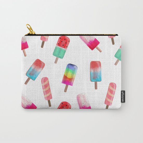 Watercolored Popsicles Carry-All Pouch