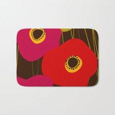 Red Poppy Flowers by Friztin Bath Mat