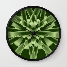 Abstract in green tones Wall Clock