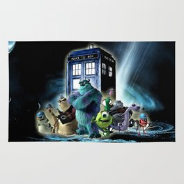 Tardis of monster inc Rug