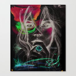 Kate Moss by Leo Tezcucano Canvas Print