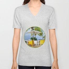 Caribbean Beach Unisex V-Neck
