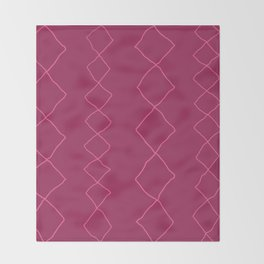 Moroccan Diamond Stripe in Magenta Throw Blanket