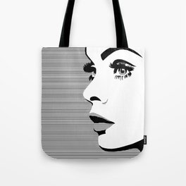 Eyes, nose, lips Tote Bag
