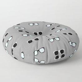 All Them Glasses - Grey Floor Pillow